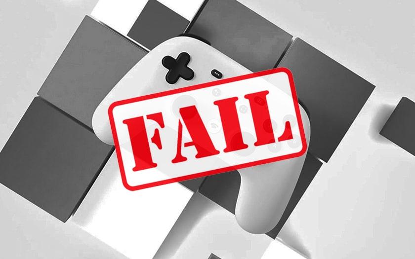 stadia manette logo FAIL