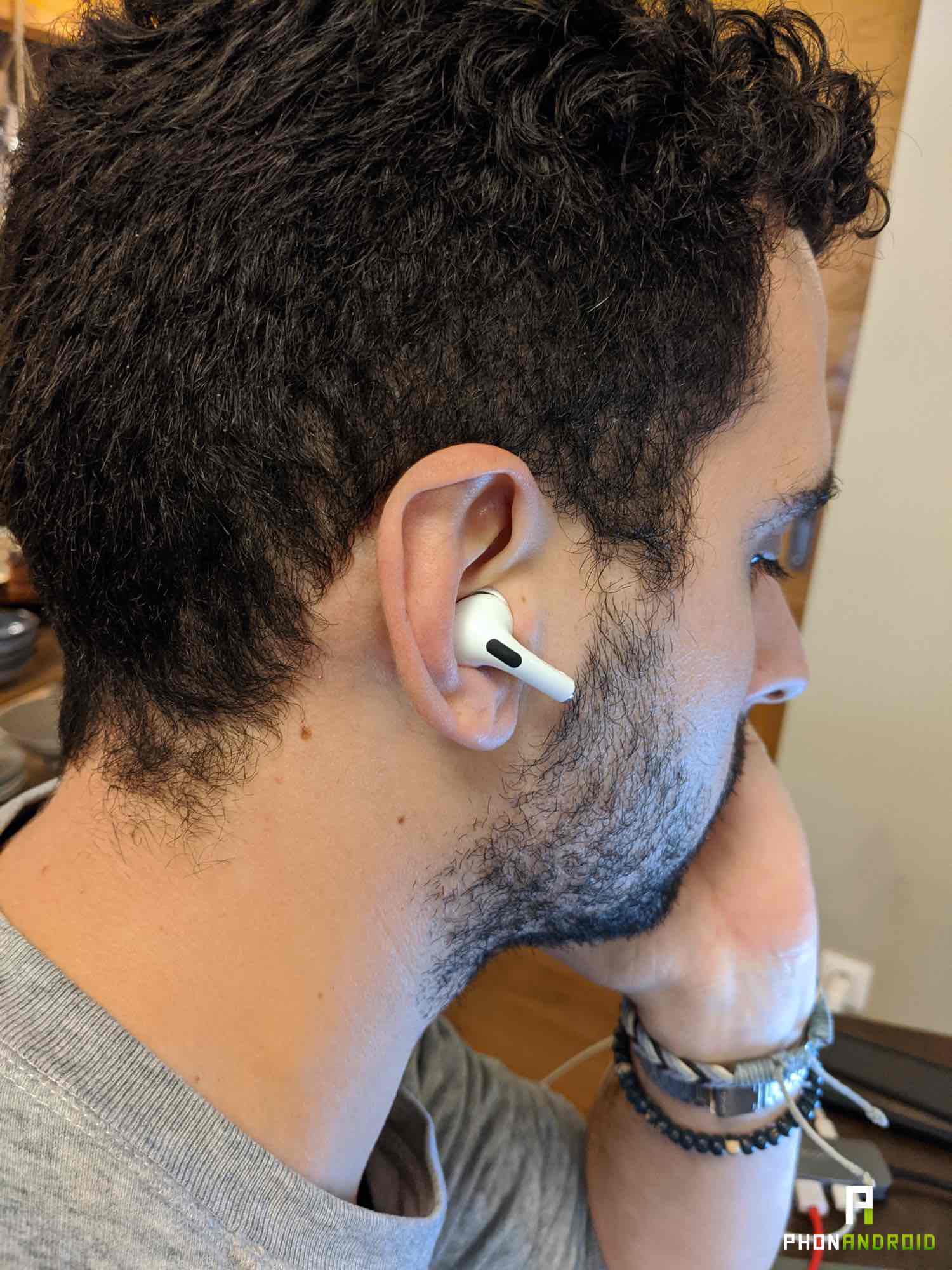 test airpods pro oreille