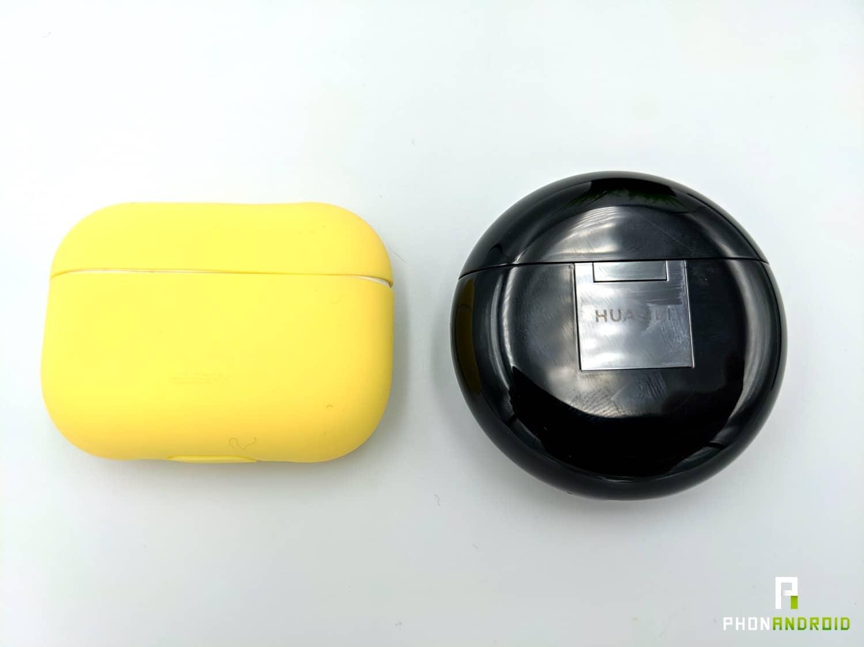 test huawei freebuds 3 airpods boitiers