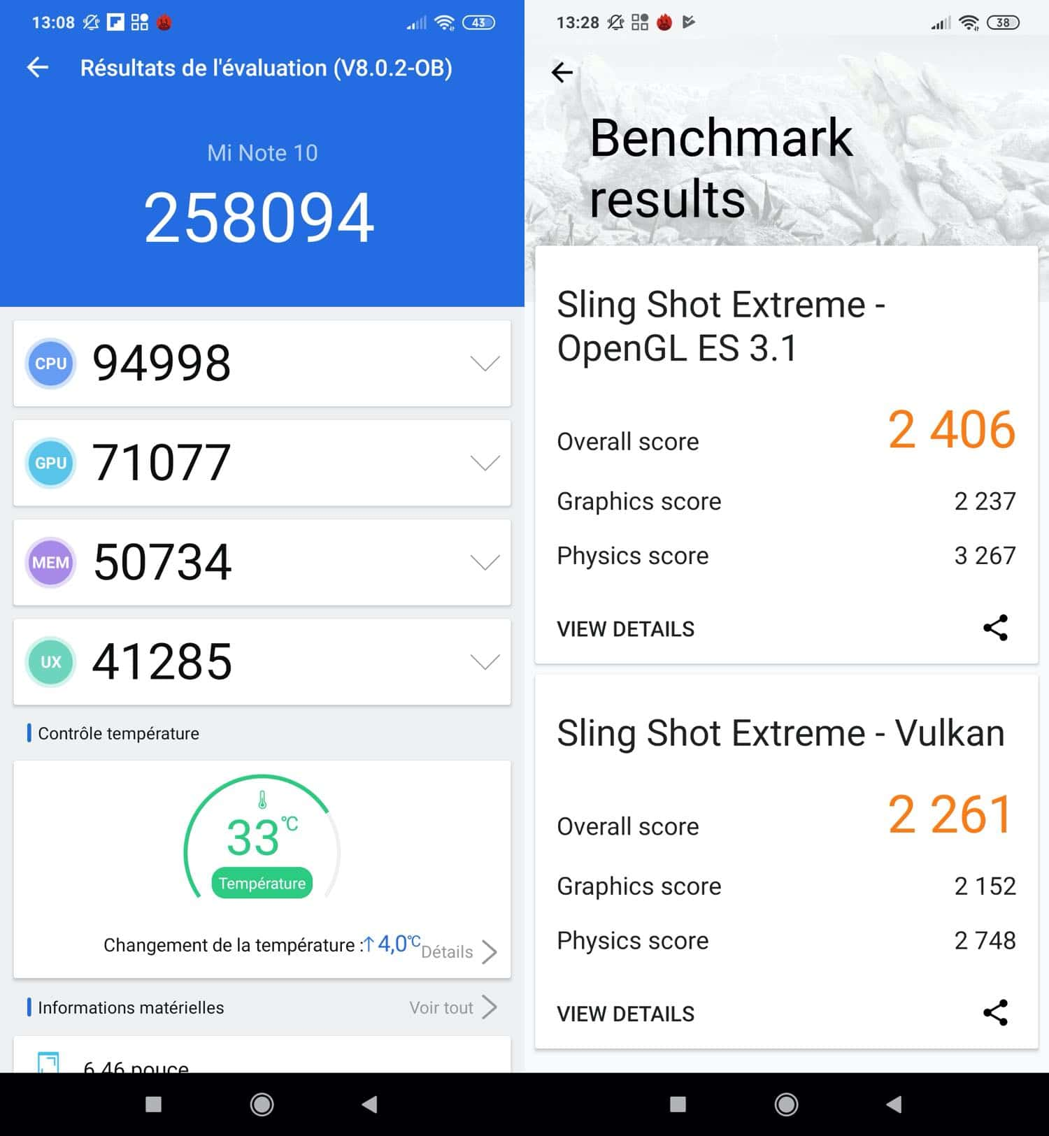 test xiaomi mi note 10 benchmarks