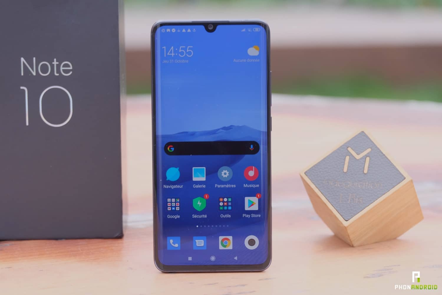 test xiaomi mi note 10 ecran