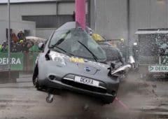 voitures électriques crash tests