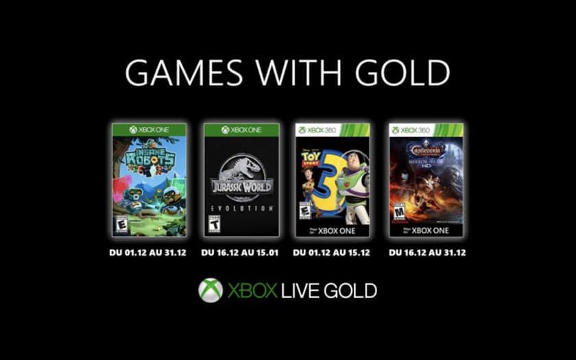 xbox games with gold jeux gratuits décembre 2019