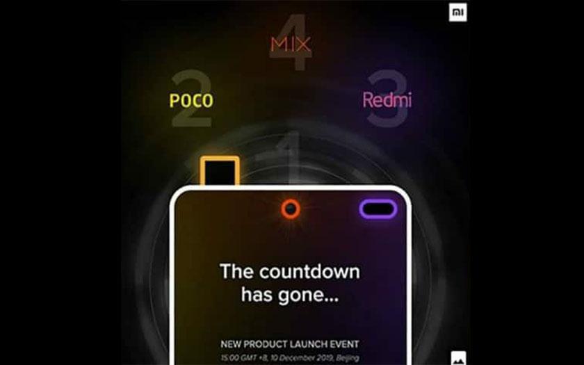 xiaomi présenter pocophone f2 mi mix 4 10 décembre 2019