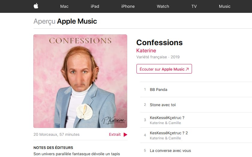 Apple Censure Philipe Katerine