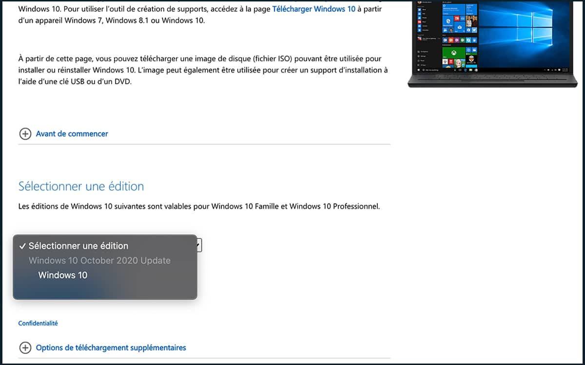 Telecharger ISO Windows 10