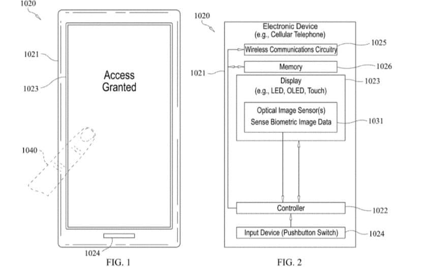 apple brevet touch id optique