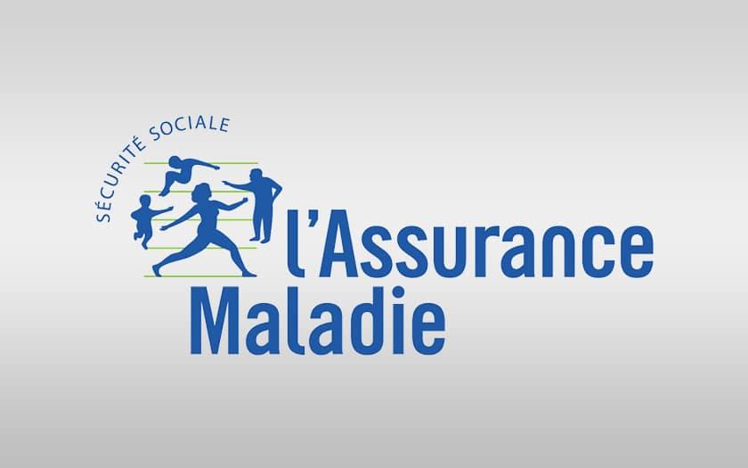 fond coloré et logo Assurance Maladie