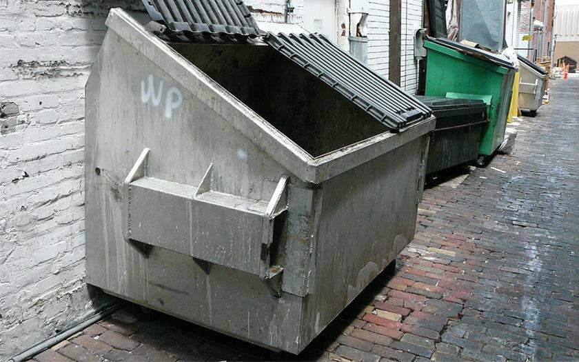 Une benne à ordures