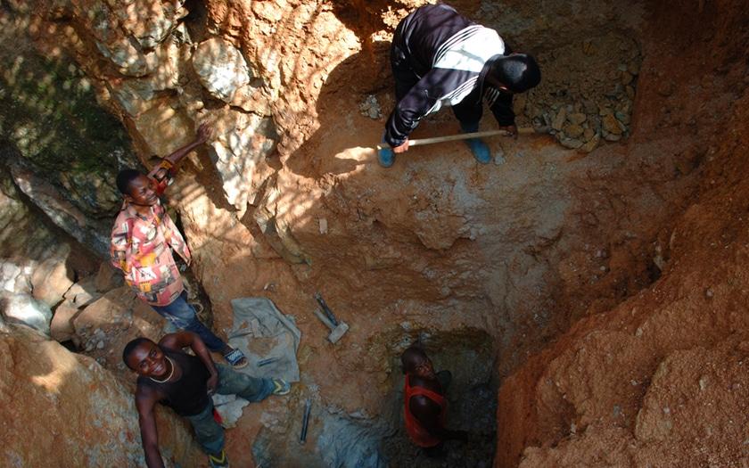 Enfants mine RDC