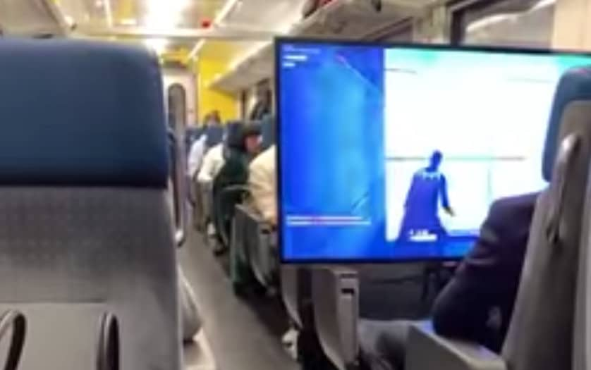 Fortnite dans le train