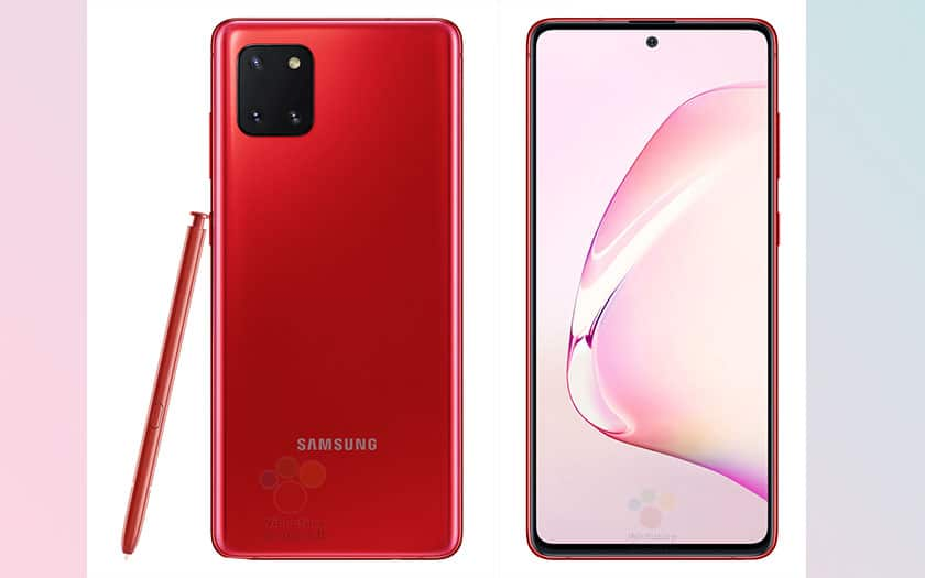 galaxy note 10 lite design complet