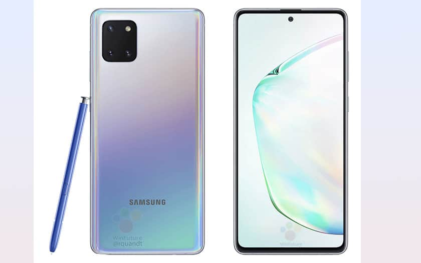 galaxy note 10 lite design