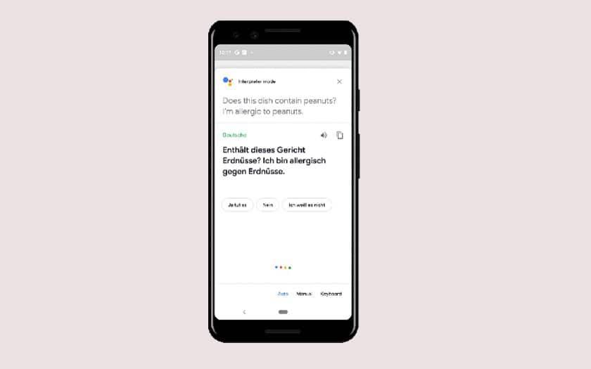 Google Assistant interprète