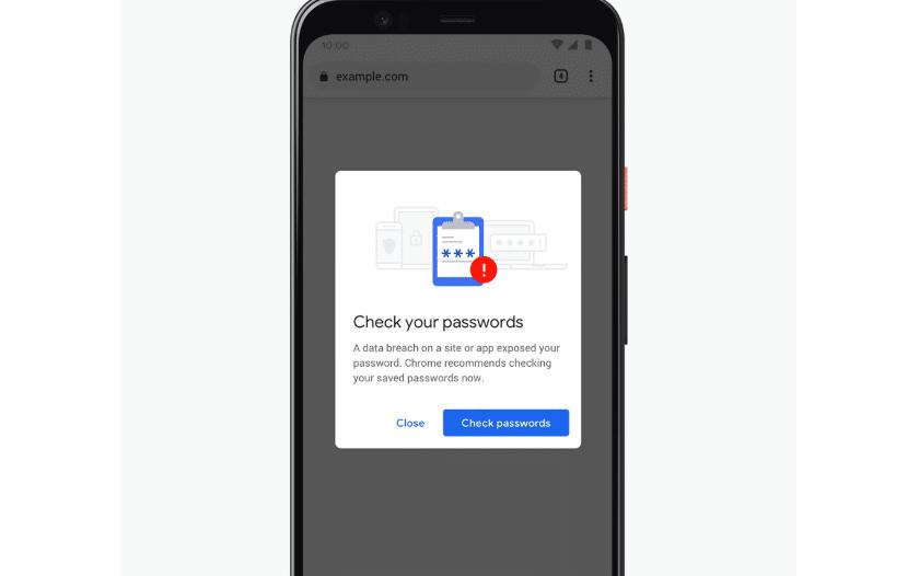 google chrome alerte mot de passe