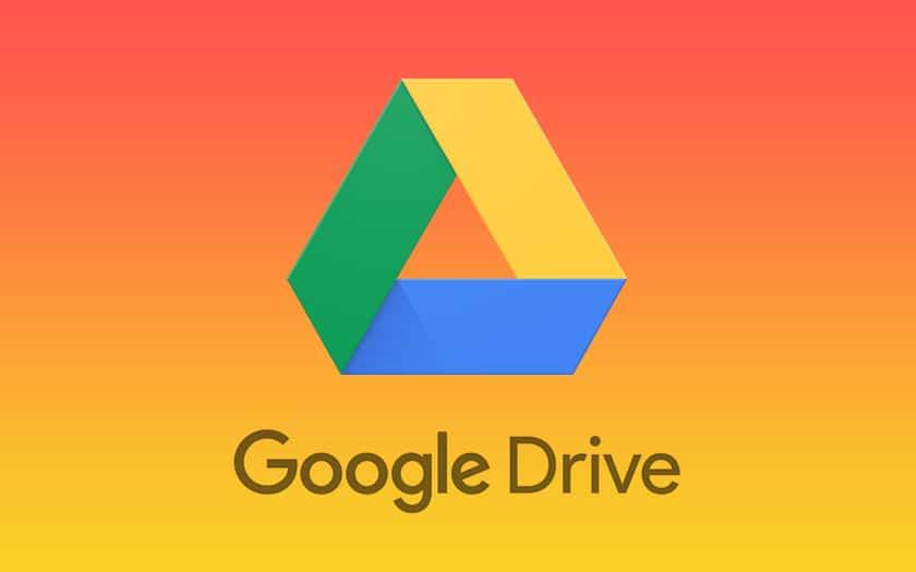 logo google drive et fond coloré orangé