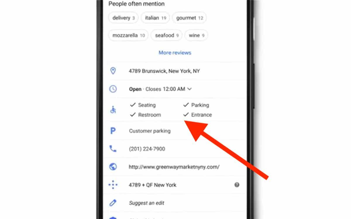 Google Maps Accessibilité