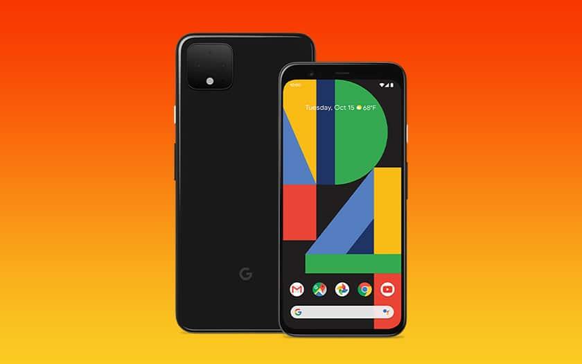 Pixel 4 XL et fond coloré