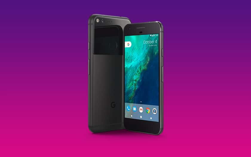 google pixel XL fond coloré