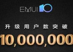 huawei emui 10 10 millions smartphones installé mise jour