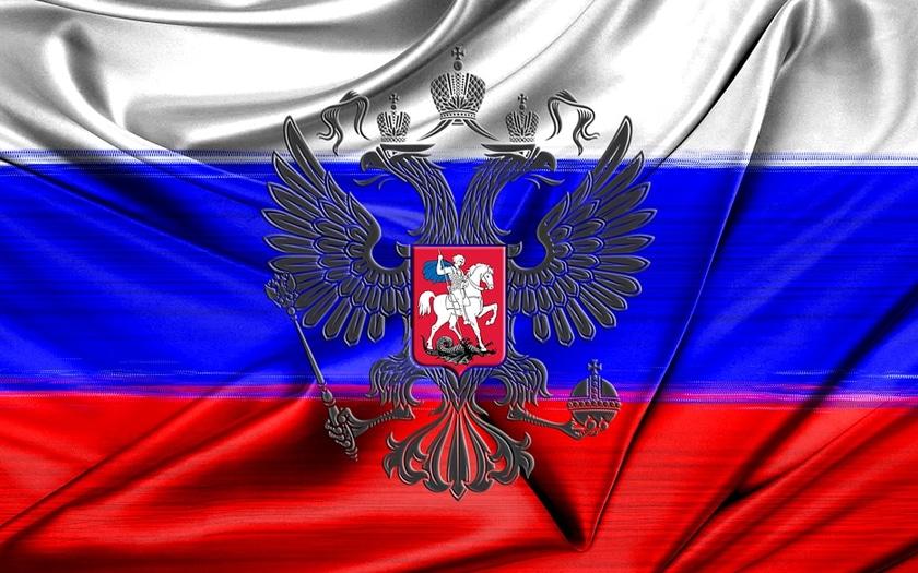 drapeau russe et emblème de la Russie