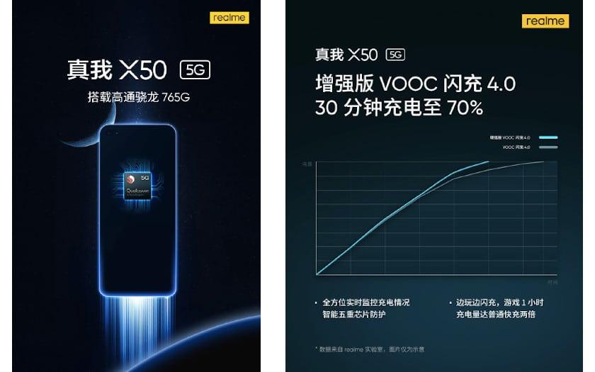 realme teaser SD765G et VOOC Charge 4.0+