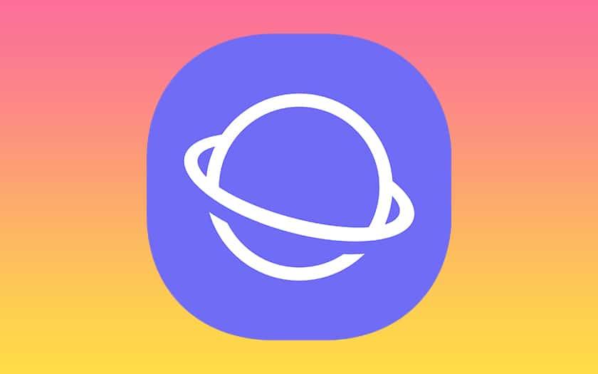 logo samsung internet et fond coloré