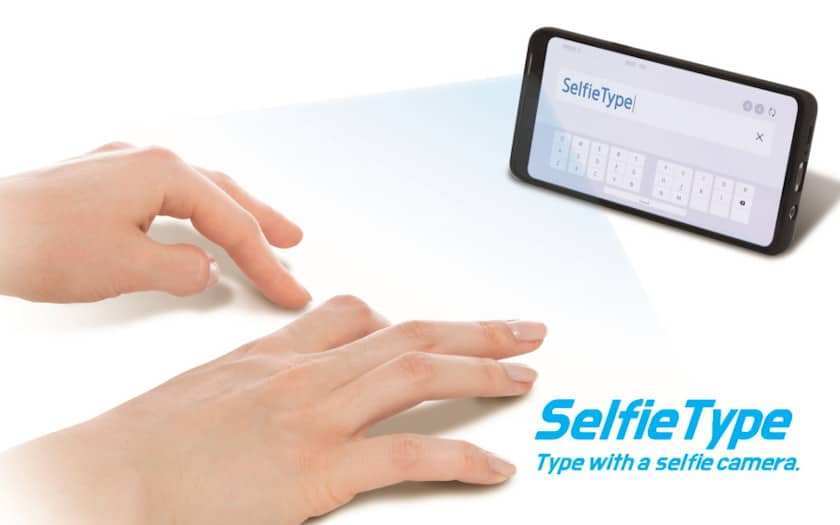 samsung selfietype - Samsung: what if the smartphone's selfie sensor turns your table into a keyboard? - Phonandroid