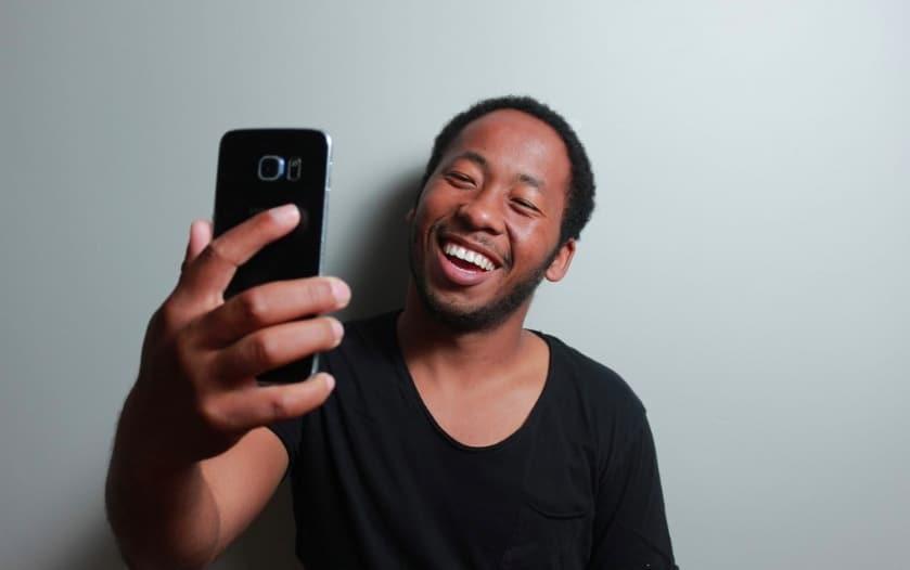 selfie appel visio