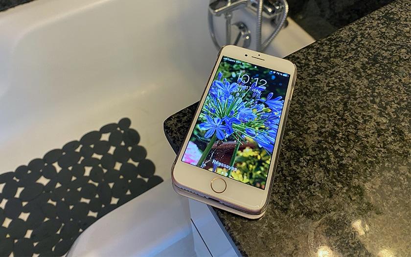 Smartphone salle de bains