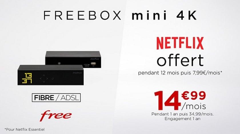 vente privee freebox mini 4K Netflix