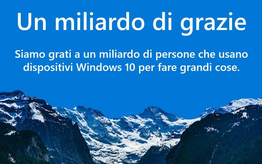 Windows 10 Milliard