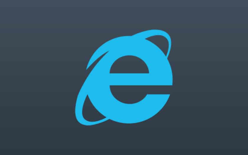 logo internet explorer et fond coloré