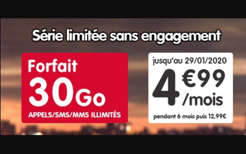 forfait 30 Go nrj mobile janvier 2020