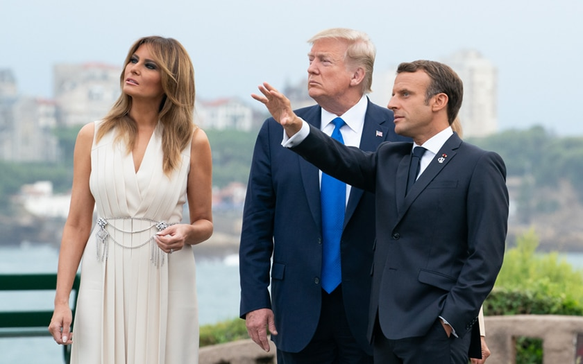 Melania Donald Trump Emmanuel Macron