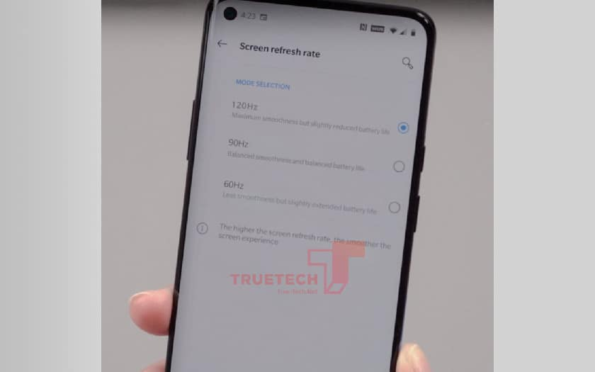 OnePlus 8 Pro: here is the first stolen photo of the 120 Hz hole screen