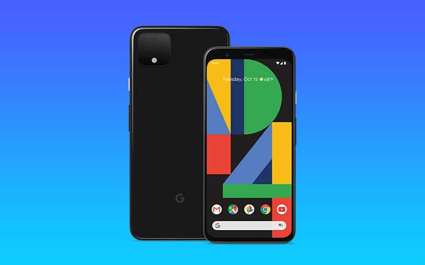 pixel 4 et fond coloré