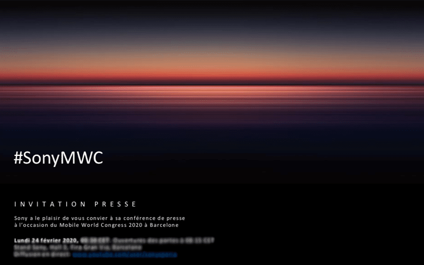 sony mobile mwc 2020 invitation