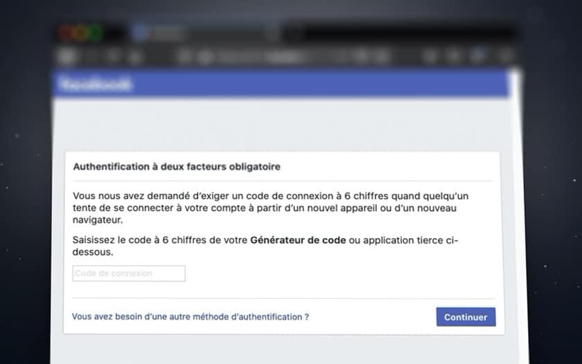 Facebook 2FA