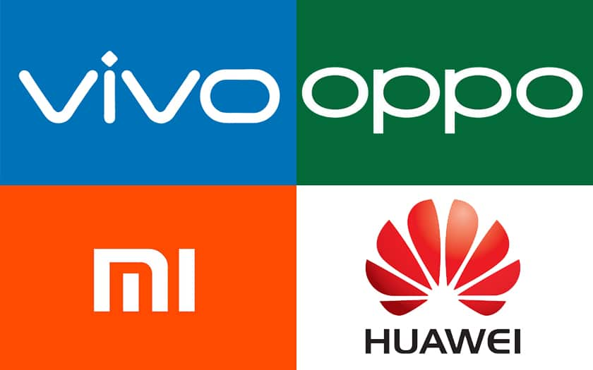 Vivo Oppo Xiaomi Huawei