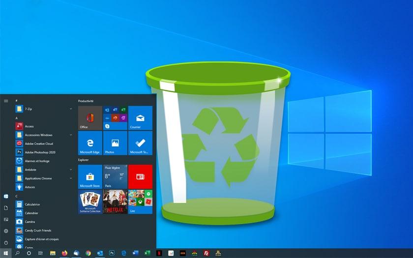Windows 10 efface les fichiers du bureau