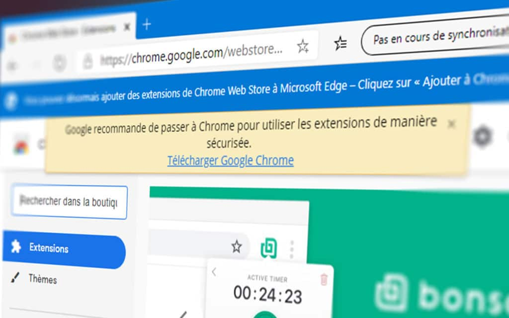 Bannière Edge Chrome