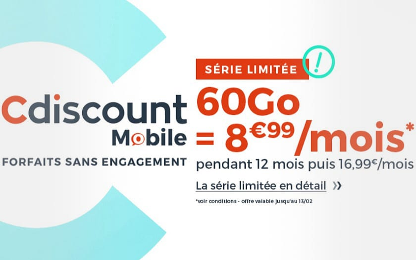 forfait cdiscount mobile 60 Go