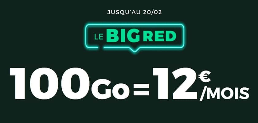 forfait mobile sfr red 100 Go