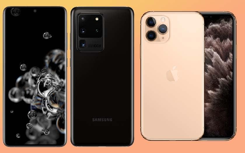 galaxy s20 ultra iphone 11 pro max design