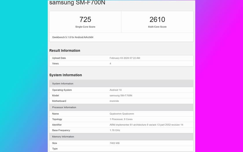 galaxy z flip benchmark