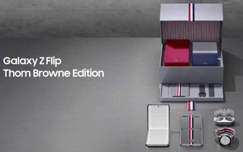 Galaxy Z Flip Edition Thom Browne