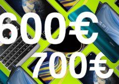 meilleurs smartphones 600 700 euros