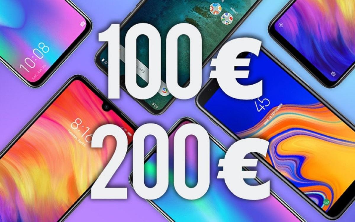 meilleurs smartphones entre 100 euros et 200 euros