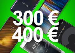 meilleurs smartphones entre 300 et 400 euros